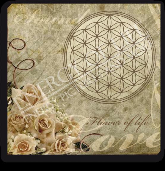 Energiebild Blume des Lebens + Klang + Liebe