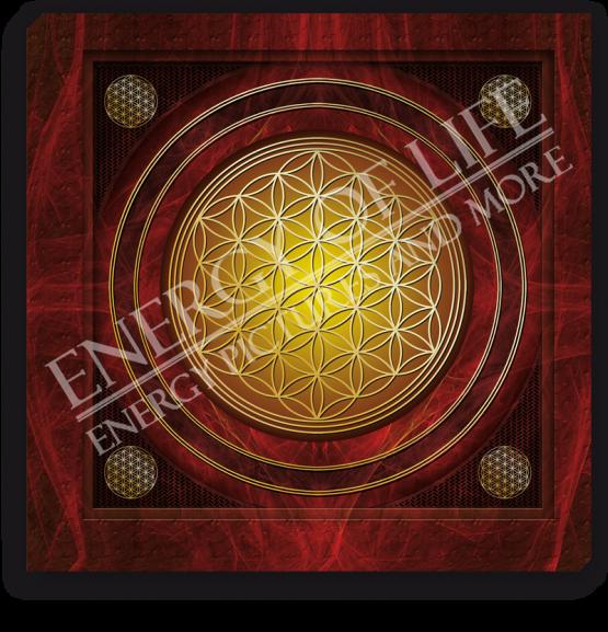 Energiebild Blume des Lebens + Kraft