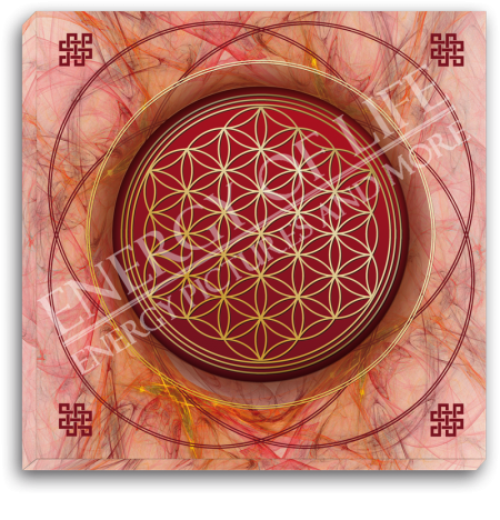 Leinwandbild Blume des Lebens - karmische Harmonisierung