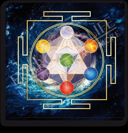 Leinwandbild Würfel des Metatron - Innere Ordnung
