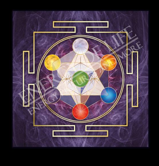 Untersetzer und Heilschablone Würfel des Metatron - Göttliche Anbindung