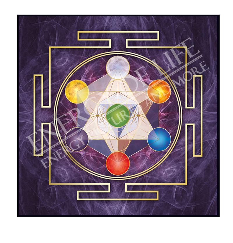 Heilschablone Würfel des Metatron Transformation