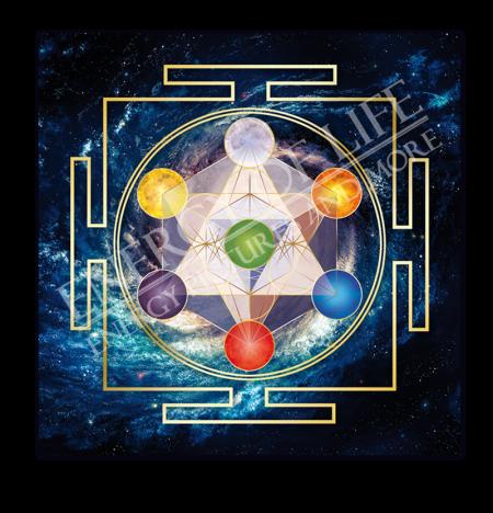 Heilschablone Würfel des Metatron - Innere Ordnung