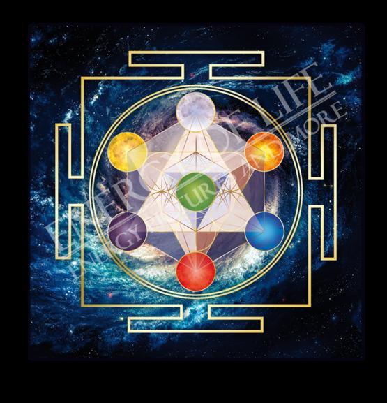 Untersetzer und Heilschablone Würfel des Metatron - Innere Ordnung