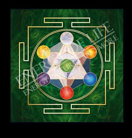 Heilschablone Würfel des Metatron - Gleichgewicht und Fülle