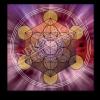 Untersetzer und Heilschablone Würfel des Metatron - Transformation