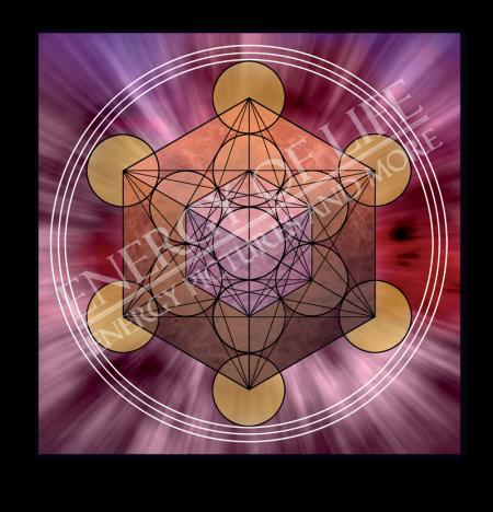 Heilschablone Würfel des Metatron - Transformation