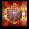Untersetzer und Heilschablone Würfel des Metatron - Göttliches Timing