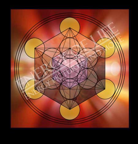 Heilschablone Würfel des Metatron - Göttliches Timing