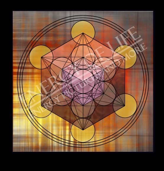 Untersetzer und Heilschablone Würfel des Metatron - Struktur und Ordnung
