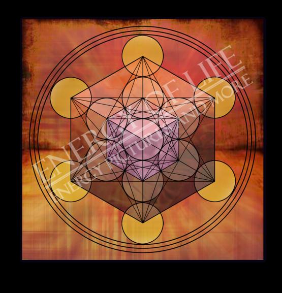 Untersetzer und Heilschablone Würfel des Metatron - Innere Balance