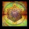 Untersetzer und Heilschablone Würfel des Metatron - Innere Weite