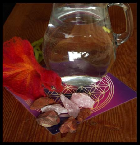 Heilsteinwasser: Mischung Liebe
