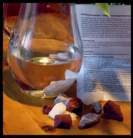 Heilsteinwasser: Mischung Abnehmen und Verdauung