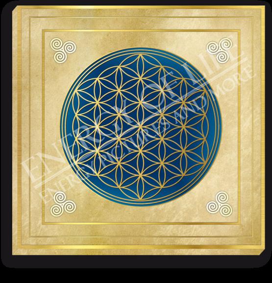 Bild auf Leinwand - Energiebild Blume des Lebens + Klarheit