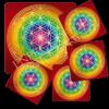 Untersetzer Blume des Lebens -Chakren-Ausgleich-Set