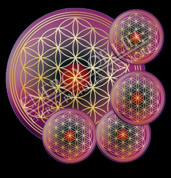 Untersetzer Lebensblume Eigenmacht - rund - Set