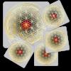 Untersetzer Blume des Lebens -Neutralität-Set