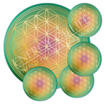 Untersetzer Blume des Lebens Harmonisierung - rund - Set