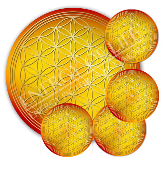 Untersetzer Blume des Lebens Bauchgefühl - rund - Set