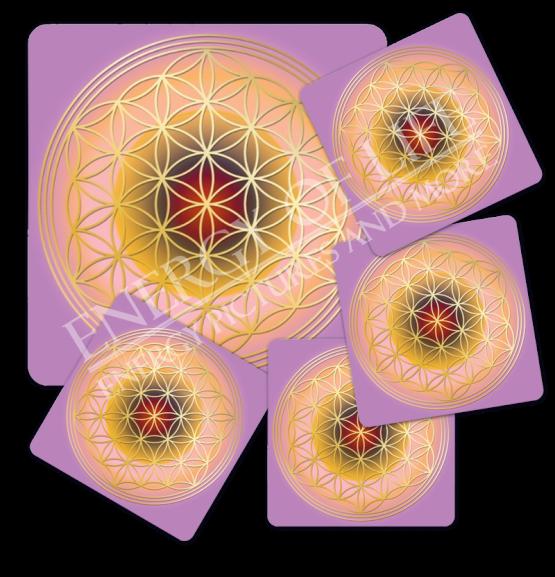 Untersetzer Blume des Lebens -Herzens-Energie-Set