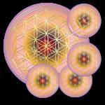 Untersetzer Blume des Lebens Herzens-Energie - rund - Set